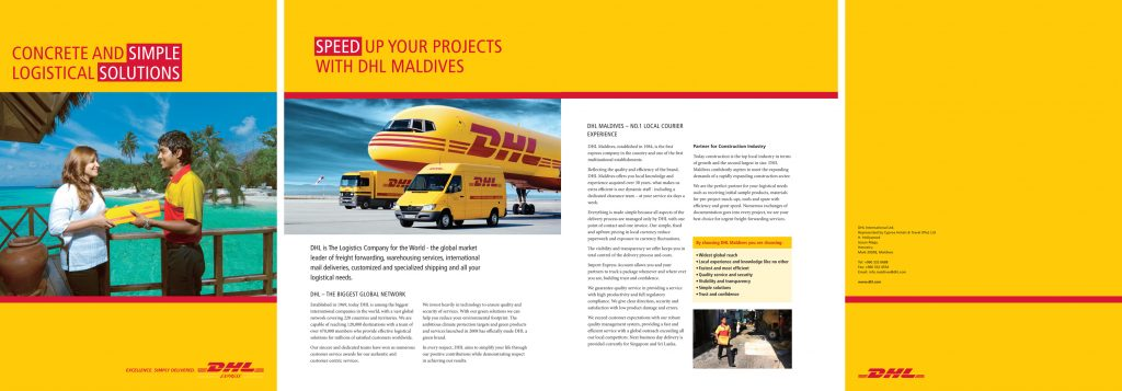 Exhibition Stall Image : Dhl advertising in maldives shahee ilyas